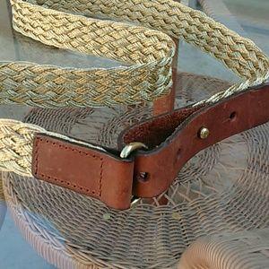 J.Crew braided gold belt
